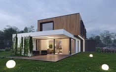 Bungalow House Design, House Front Design, Small House Design, Minimal House Design, Zen House, Modern Townhouse, Container House Design, Villa Design, Modern Architecture House