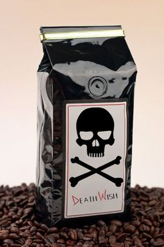 """'World's Strongest Coffee' Has 200% More Caffeine -  an eco-friendly gourmet brew with 200 percent more caffeine than the average dark roast. Death Wish Coffee bills itself as """"the responsible coffee company with an irresponsible product."""""""