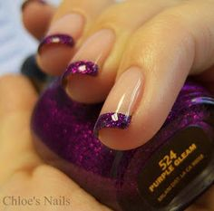 Love love love! Different take on the typical French manicure!