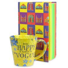 This exclusive gift hamper for your dear one inlcudes a notebook with 400 pages and a mug. Birthday Hampers, Birthday Gifts, Gift Hampers, Notebook, Mugs, Collections, Tableware, Shop, Products