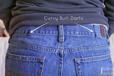 This article will discuss the ways of sewing darts in jeans. Most you must have some jeans, don't you? But, you sometimes cannot get or match the best jeans pair to wear. Maybe, the waist of your lovely jeans does not fit you in which. Altering Jeans, Altering Clothes, Sewing Hacks, Sewing Tutorials, Sewing Patterns, Sewing Tips, Sewing Projects, Knitting Patterns, Sewing Jeans