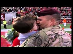 Soldier Homecoming Surprise at University of Utah Football Game |  Sergeant Kendall Black from the Utah Army National Guard surprises his wife and 13-month son on the field at halftime of the Salute America game. Sergeant Black spent the past eight months serving with the 19th Special Forces Group.