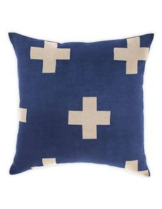 Aura Home Crosses Cushion, printed by hand by skilled artisans in India | Hudson's Bay