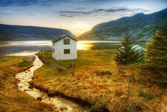 A #farm between #fjords in #Iceland.  from #treyratcliff at http://www.StuckInCustoms.com - all images Creative Commons Noncommercial