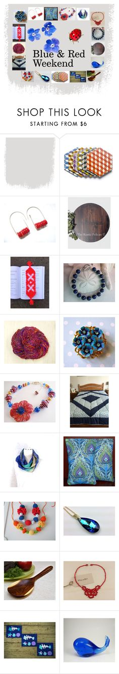 """""""Blue & Red Weekend: Handmade Gifts for Two"""" by paulinemcewen on Polyvore featuring interior, interiors, interior design, home, home decor, interior decorating, Lazuli, Avon, rustic and vintage"""