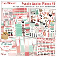 Free Printable Planner Stickers Add On: One page of stickers coordinating with the Sweater Weather Kit. Download the stickers at the bottom of this page. Sweater Weather Kit This is a huge and a versatile kit. First all the boxes, icons, clip art, Bible verse cards and quote cards can mix and match with the …Read more...