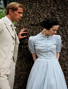 Phillips's picnic-dress sketch comes to life in this still from the film, in which, over the course of 119 minutes, Wallis Simpson has more than 60 costume changes.