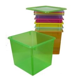 Large Colored Plastic Storage Containers