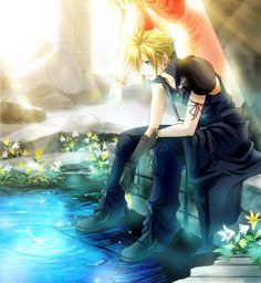 Cloud and Aerith - Final Fantasy 7: Advent Children - Not alone