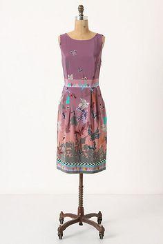 28aa5421354c0 Anthro dress Butterfly Dress, Bird Dress, Unique Dresses, Lovely Dresses,  Librarian Chic