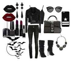 """""""~ Phillip Plein ~ (Untitled)"""" by moniquedawson09123 ❤ liked on Polyvore featuring Topshop, Philipp Plein, Yves Saint Laurent, Givenchy, Lime Crime, Smashbox, OPI and Essie"""