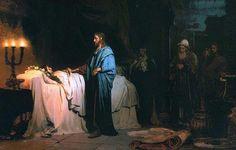 Raising of Jairus's daughter, Ilya Repin ( 1871)