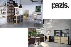 Möbel mit Magnet-Steckverbindungen - Pazls modulare Regale mit patentierten, magnetischen Verbindern sind flexibel und individuell. Divider, Room, Furniture, Home Decor, Modular Shelving, Cardboard Packaging, Store Shelving, Haus, Bedroom