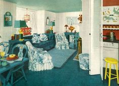 A 1940s Tiny Cottage Interior
