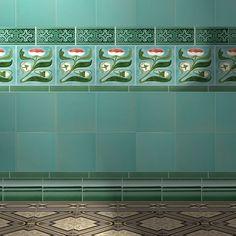 Wall-mounted tile / ceramic / Art Nouveau F6 GOLEM Kunst und Baukeramik GmbH