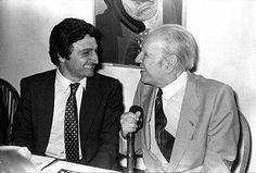 Borges todo el año: Jorge Luis Borges-Roberto Alifano: Los libros - oto: Roberto Alifano y Borges (sin data)