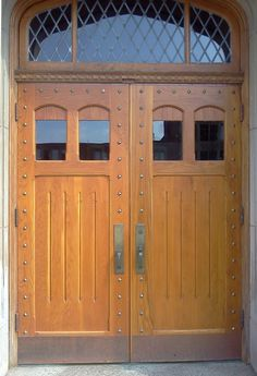 True divided light wooden exterior & interior doors for your home. Our handcrafted glass panel doors are custom made to your exact size. Glass Panel Door, Panel Doors, Glass Panels, Exterior Doors With Glass, Interior And Exterior, Wood Interiors, Wood Paneling, Solid Wood, Garage Doors