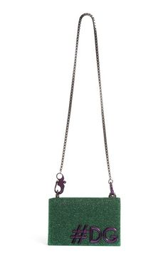 0ad2c1dcbc86 DOLCE   GABBANA DG GIRLS METALLIC SHOULDER BAG - GREEN.  dolcegabbana  bags   shoulder bags  leather  metallic