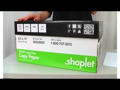 Shoplet Copy Paper - Bright, clean, fresh and affordable! Shoplet copy paper is perfect for the home or office. Brought to you by Shoplet - everything for your business