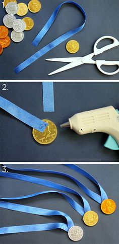 Chocolate-medal-steps...great idea for school children...Celebrate the 2014 Winter Olympics in style:)