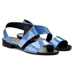 Sandály MACCIONI - 535  Modrá