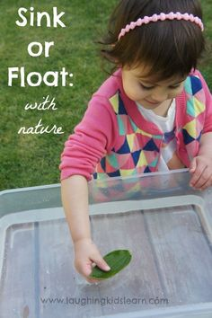 Sink or float activity using natural objects found in the garden. Great as an early science exploration activity.