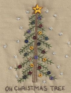 Quilted Christmas Ornaments, Christmas Sewing, Christmas Embroidery, Christmas Ideas, Country Christmas, Christmas Tree, Christmas Decorations, Christmas Stockings, Crewel Embroidery