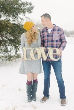 Love sign engagement picture!