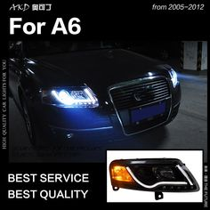 Audi A6 C5 H7 H1 501 100w Super White Xenon HID High//Low//Side Headlight Bulbs