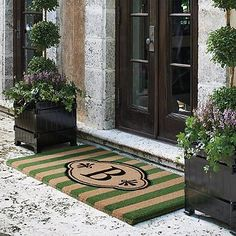 Add a sophisticated look to your entryway with front door mats from Frontgate. Shop stylish yet durable welcome mats to keep dirt and dust out of your home. Entry Mats, Front Door Mats, Front Porch, Front Doors, Front Gate Design, Door Trims, Front Entrances, Indoor Rugs, Luxury Home Decor