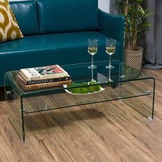 Shop for Ramona Glass Rectangle Coffee Table with Shelf by Christopher Knight Home. Get free shipping at Overstock.com - Your Online Furniture Outlet Store! Get 5% in rewards with Club O!