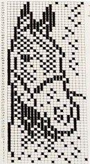 Bilderesultat for knitting chart kuvio Knitted Mittens Pattern, Intarsia Knitting, Knitting Charts, Knitting Socks, Knitting Stitches, Knitting Patterns, Crochet Patterns, Crochet Chart, Filet Crochet