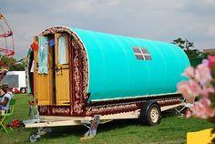 Turquoise gypsy caravan-- so want a gypsy wagon!!!! ms