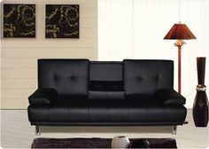 Charmant Cheap Sofa Beds For Your Modern Home: Wonderful Black Modern Style Cheap  Sofa Beds Artistic