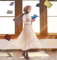 Kitap dünyası - Dream drawing - Best of Wallpapers for Andriod and ios Hijab Drawing, Dress Drawing, Muslim Women Fashion, Kids Fashion, Best Facebook Profile Picture, Anime Muslim, Muslim Hijab, Islamic Cartoon, Hijab Cartoon