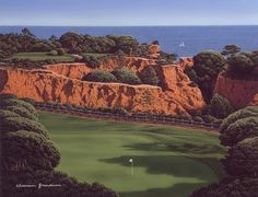 Devil's Parlour, Pine Cliffs golf course, Portugal