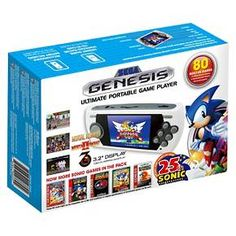 "Sega Genesis Ultimate Portable Game Player with 3.2"" LCD display, equipped with your favorite Sonic games.  Comes with rechargeable battery.<br><br>Product Features:<br>•         A 3.2"" LCD Display<br>•         Fully equipped with all your favorite SONIC games; includes Mortal Kombat I, II, III<br>•         SD Card Slot for downloadable games<br>•         Comes with rechargeable battery<br>&b..."