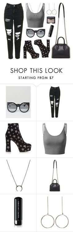 """Star Quality"" by baludna ❤ liked on Polyvore featuring Missguided, Topshop, Yves Saint Laurent, Doublju, STELLA McCARTNEY, Marc Jacobs and NARS Cosmetics"