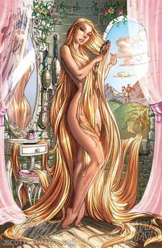 Disney princess pin-up by J. Scott Campbell