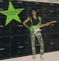 The Guitar Column: Steve Vai's 'Green Meanie' Charvel Guitar Guitar Rig, Guitar Shop, Cool Guitar, Guitar Players, Steve Vai, Eddie Van Halen, Frank Zappa, Guitar Magazine, Cool Electric Guitars
