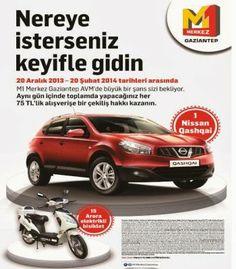 M1 Merkez Gaziantep AVM Çekiliş Kampanyası - M1 Gaziantep AVM Nissan Qashqai Çekilişi http://www.kampanya-tv.com/2014/01/m1-merkez-gaziantep-avm-cekilis-kampanyasi-m1-gaziantep-nissan-qashqai-cekilisi.html