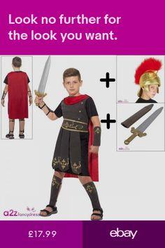 Boys' Fancy Dress Clothes, Shoes & Accessories #ebay Roman Soldier Costume, Roman Shield, Warrior Outfit, Boys Fancy Dress, Roman Soldiers, Dress Outfits, Dress Clothes, Dresses, Vestidos