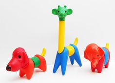 Zoo It Yourself Tupperware toys.