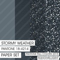 Glitter&Plain PAPER Stormy Weather PANTONE by Fashiontelligent