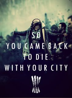 So You Came Back to Die With Your City