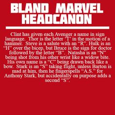 Clint's abbreviated Avenger names