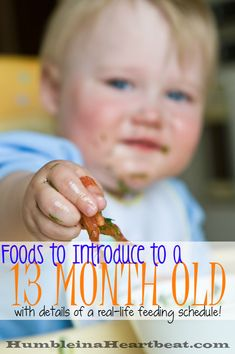 Think only 6 month olds need to be introduced to foods? Think again! One year olds need to be introduced to new foods, too! This month my 13 month old tried mushrooms, eggplant, and black olives.