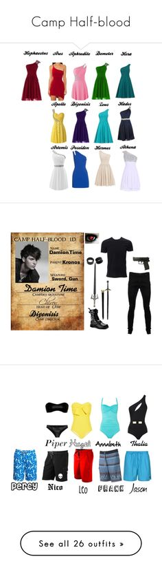 """Camp Half-blood"" by regan-l-weeks ❤ liked on Polyvore featuring Versus, Vivienne Westwood Anglomania, NOVICA, men's fashion, menswear, MOEVA, Seafolly, Lisa Marie Fernandez, Lyle & Scott and Trinity Collective"