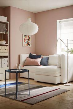 Pisos pequeños Living Room Paint, Living Room Colors, Home Living Room, Living Room Remodel, Living Room Decor, Small Living Rooms, Living Pequeños, Simple Living Room, Living Room Trends