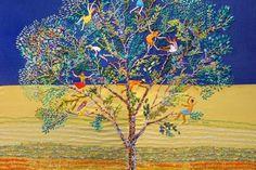 """""""Brincadeiras na árvore""""  - árvores-abrigo, brinquedo, fartura,  tema recorrentemente belo do grupo Matizes Dumont"""